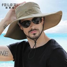 帽子男夏天遮阳帽迷彩渔夫帽太阳帽男士沙滩防晒钓鱼帽