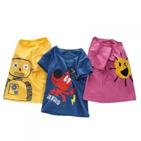 儿童短袖T恤2019新款男孩儿童短袖T恤棉中大童女