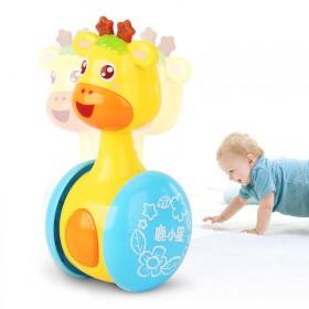 源乐堡玩具 可爱形象萌宠鹿小星滑行不倒翁摇铃婴儿礼