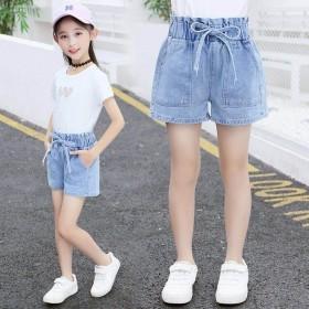 女童牛仔短裤夏季2019新款洋气中大童薄款小女孩外