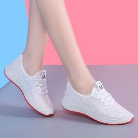 透气运动鞋白色网鞋夏季