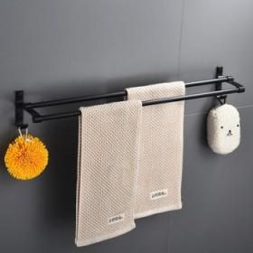 免打孔毛巾架挂杆太空铝毛巾杆