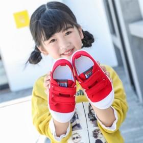 儿童帆布鞋2019春秋新款小白鞋男女童布鞋防滑单鞋