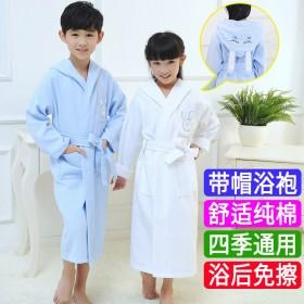 儿童浴衣斗篷女孩宝宝浴袍带帽卡通儿童浴袍吸水男孩