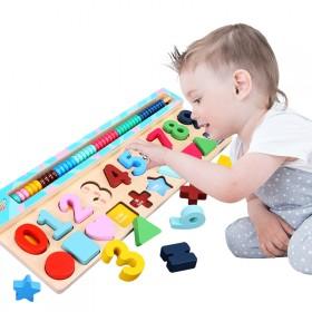 早教益智玩具对数板三合一