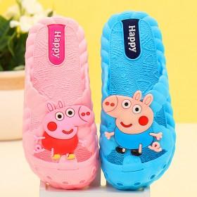 儿童拖鞋夏季小猪佩奇男女童小孩浴室内家居防滑洞洞鞋