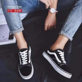 帆布鞋男韩版潮万斯女学生情侣款百搭休闲板鞋帆布鞋女