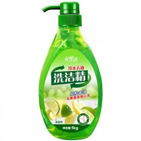 【新品促销】优生活洗洁精小瓶装1kg水果蔬菜厨房餐
