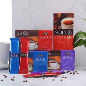 商铁咖啡台湾进口速溶咖啡提神白咖啡拿铁卡布奇诺三合