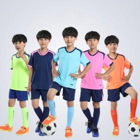 成人儿童足球服套装男光板球衣定制夏季比赛训练队服女