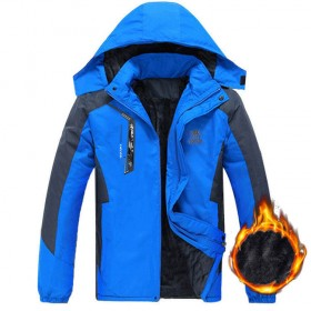 仙棉衣冲锋衣加绒加厚冬天