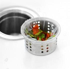 100只厨房水槽过滤网洗菜池漏网地漏下水道过滤网袋