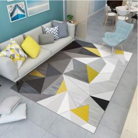 北欧现代简约地毯家用卧室客厅满铺沙发茶几地毯床边地