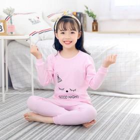 女宝宝2019亲子款秋儿童内衣套装男童纯棉圆领棉