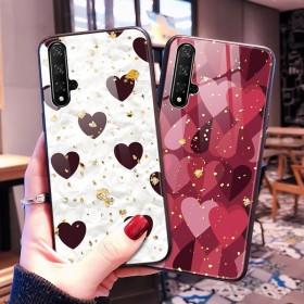 华为nova5ipro手机壳荣耀9x玻璃壳豹纹网红