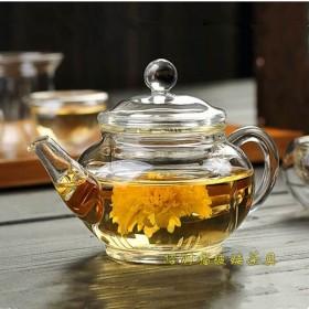 玻璃茶壶耐高温可加热内胆过滤透明玻璃花茶壶功夫泡茶