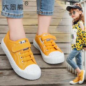 童鞋男女童运动鞋2019秋季新款帆布鞋透气儿童板鞋