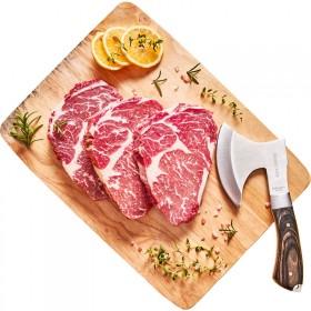 澳洲进口原切牛排2斤整切牛排菲力儿童黑椒牛肉新鲜西