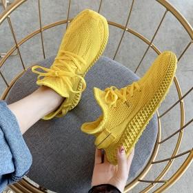 运动女鞋2019夏季新款潮网面轻便跑步鞋老爹ins
