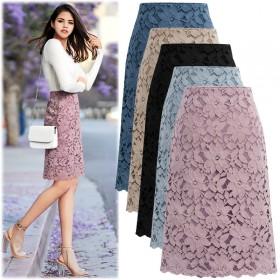 蕾丝半身裙中长款夏季欧货包臀裙高腰a型大码胖MM