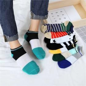 韩版春秋短款浅口男袜学生袜颜色随机发货