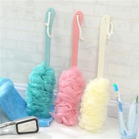 大号防滑长柄沐浴球搓澡刷起泡纱网搓后背刷洗浴用品沐