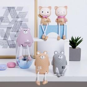 拍两对吊脚娃娃摆件家居饰品可爱创意ins室内卧少女
