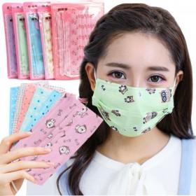 印花口罩男女一次性透气三层薄款防晒防尘防雾霾透气