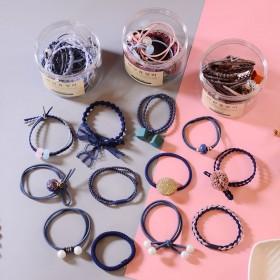 12条头绳韩国小清新简约发圈成扎头发橡皮筋马尾发绳