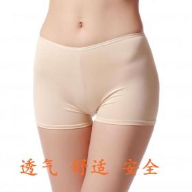 夏季女生冰丝安全裤三分防走光裤花边裤打底裤