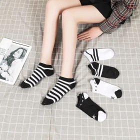 韩版春秋短款女袜学生袜颜色随机发货