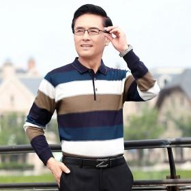 天猫春秋薄型男针织长袖T恤