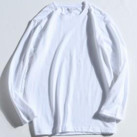 精梳棉长袖T恤男