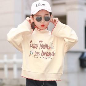 儿童卫衣2019秋装韩版休闲小女孩花边卫衣洋气时髦
