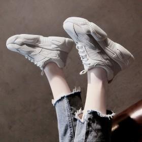 显脚小老爹鞋学生超火网面厚底运动鞋