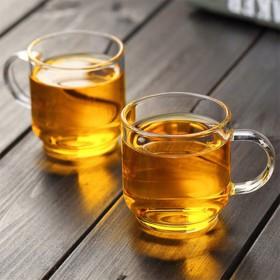 耐热玻璃茶杯功夫茶具家用加厚透明小品杯酒杯