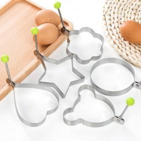 DIY心形煎蛋器小工具不锈钢煎蛋器 厨房爱心煎蛋器