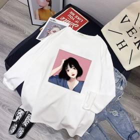长袖T恤女2019秋季新款韩版简约宽松圆领上衣潮