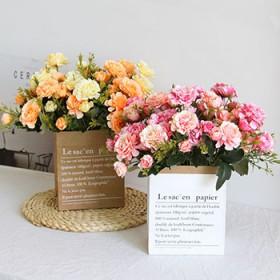 杜鹃花仿真花摆件小清新 客厅装饰假花小玫瑰家居塑料