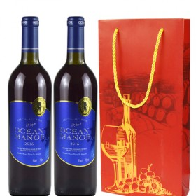 欧绅庄园甜红酒葡萄酒2支装双支送礼袋