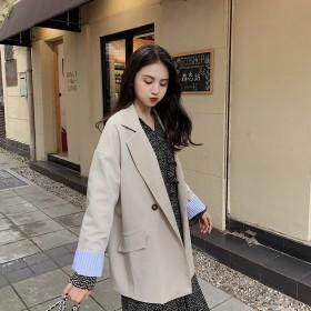 西装外套女春秋2019新款韩版宽松学生休闲小西服
