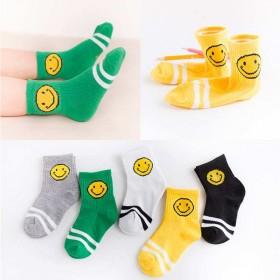 五双装秋冬儿童袜子春秋男女童宝宝袜中大童中筒袜