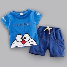 童装男童夏装套装2019新款宝宝短袖洋气小婴儿童两
