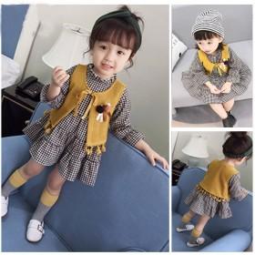 女宝宝秋装新款裙子女孩棉类0-3岁婴幼儿公主裙秋