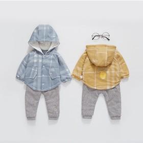 宝宝棉衣套装秋冬季薄款棉服婴儿衣服保暖秋装外出服