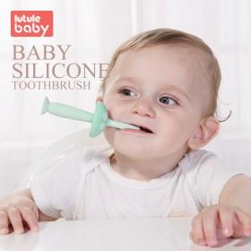 路途乐 婴儿牙刷0-1-2-3岁硅胶软毛训练牙刷宝