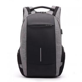 USB充电防水双肩背包 密码锁 商务休闲电脑包