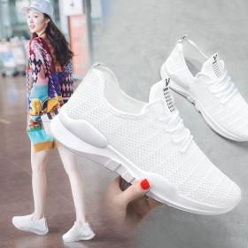 韩版秋季网面运动鞋女学生鞋小白小黑鞋休闲镂空