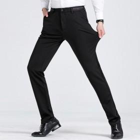 秋季男装休闲裤中腰抗皱弹力修身西裤免烫时尚商务青年