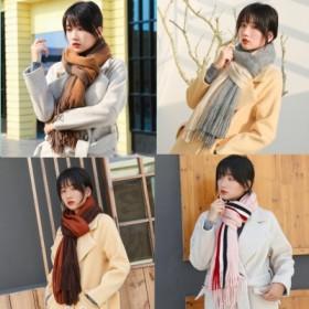 围巾男女冬季新款百搭韩版简约男士围巾针织毛线围脖